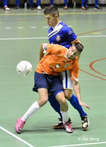 Justin Camilleri in action last year for Marsascala